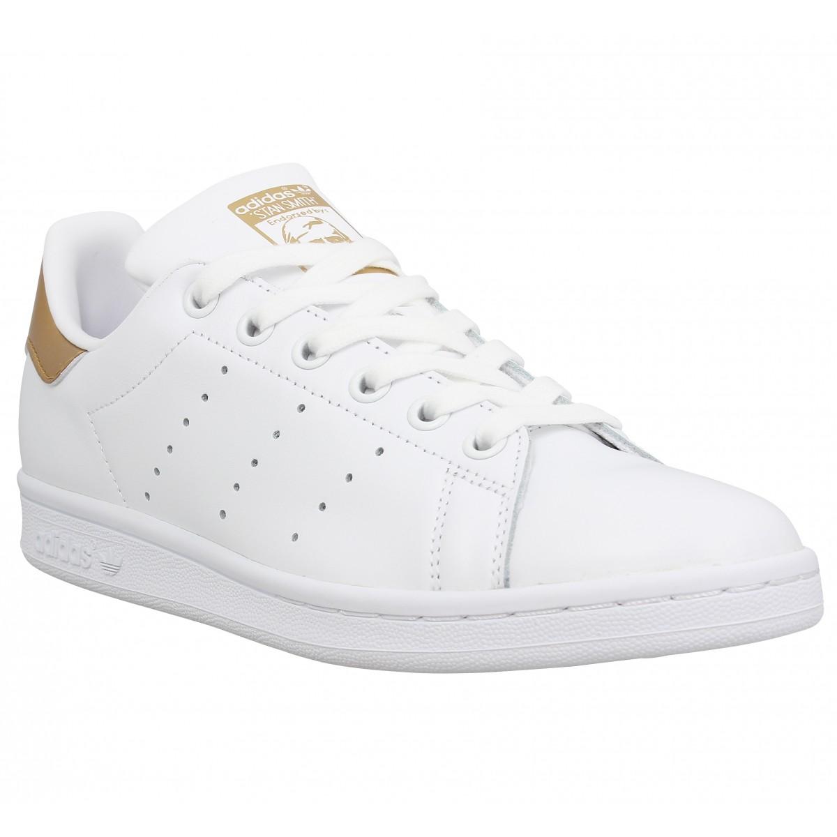 adidas stan smith femme blanc or